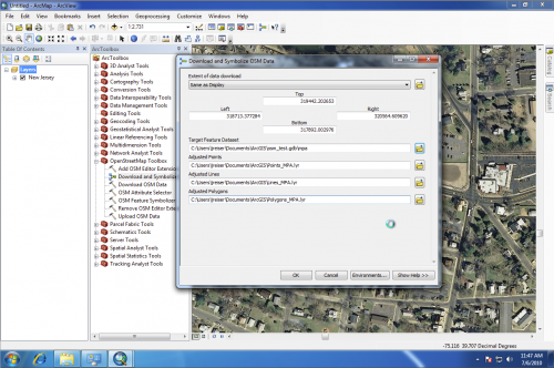Download and Symbolize OSM Data dialog in ArcGIS 10