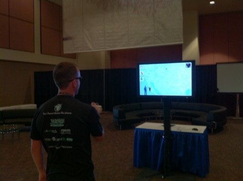 Kinect Demo out in the Expo