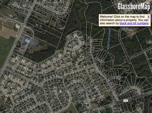 Screenshot of GlassboroMap.com
